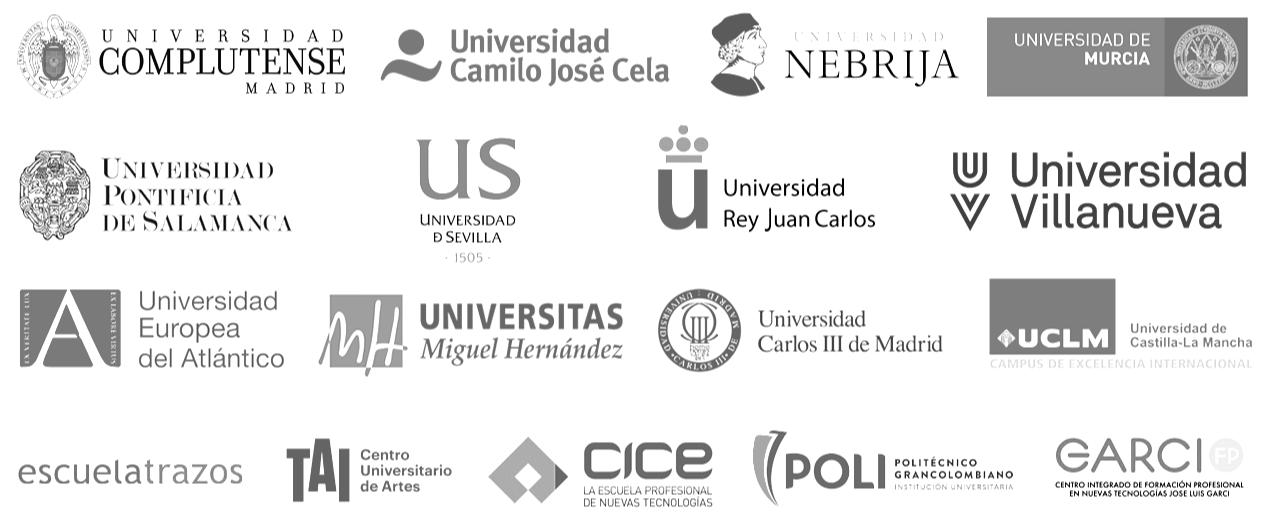 Convenios de colaboración firmados por Javier Galué y varias universidades e instituciones educativas