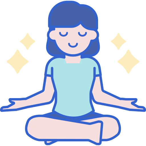 Drawing of woman sitting in yoga pose
