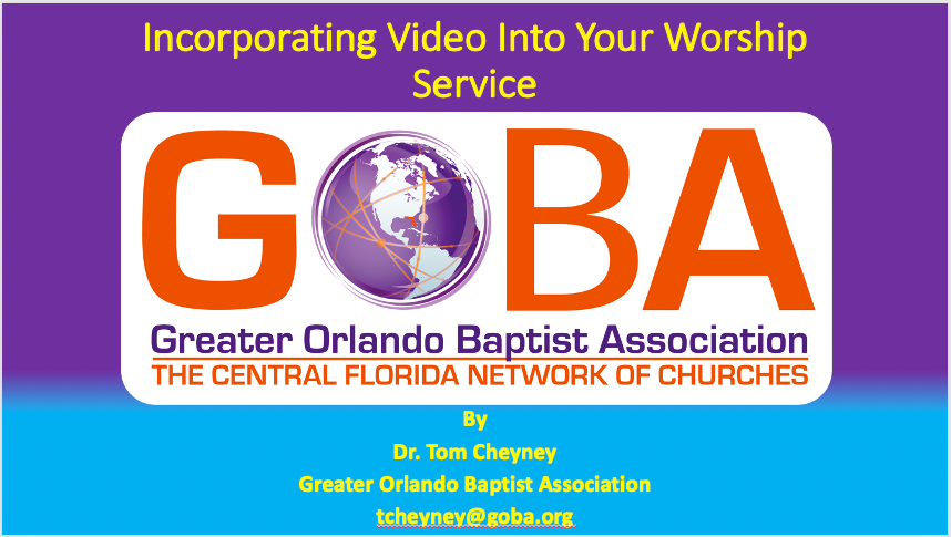 Incorporating Video Into Your Worship Service PowerPoint