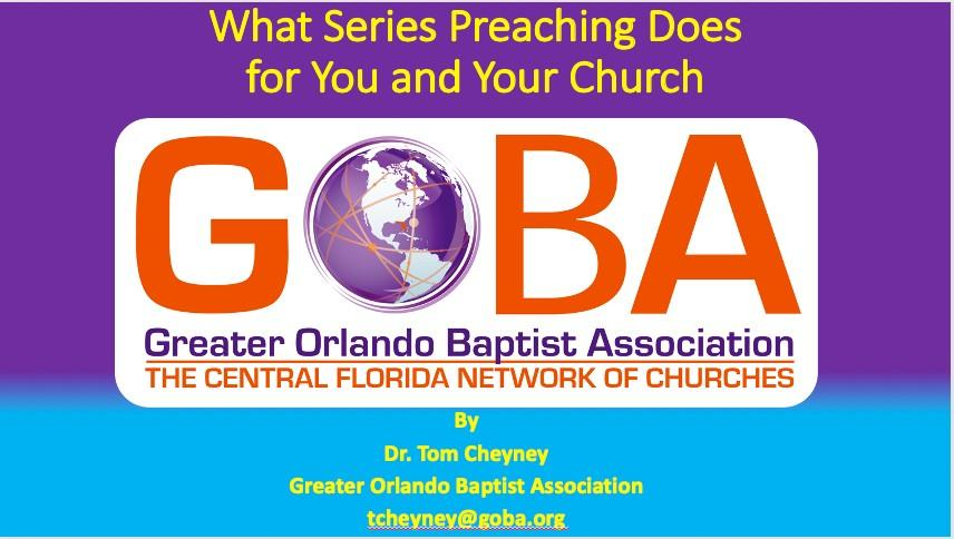 What Series Preaching Does for You and Your Church