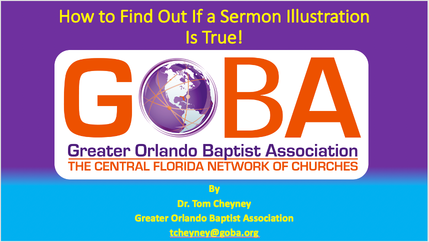 How to Find Out If a Sermon Illustration Is True PowerPoint