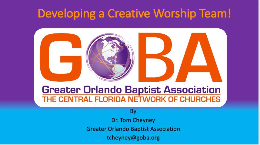 Developing a Creative Worship Team PowerPoint