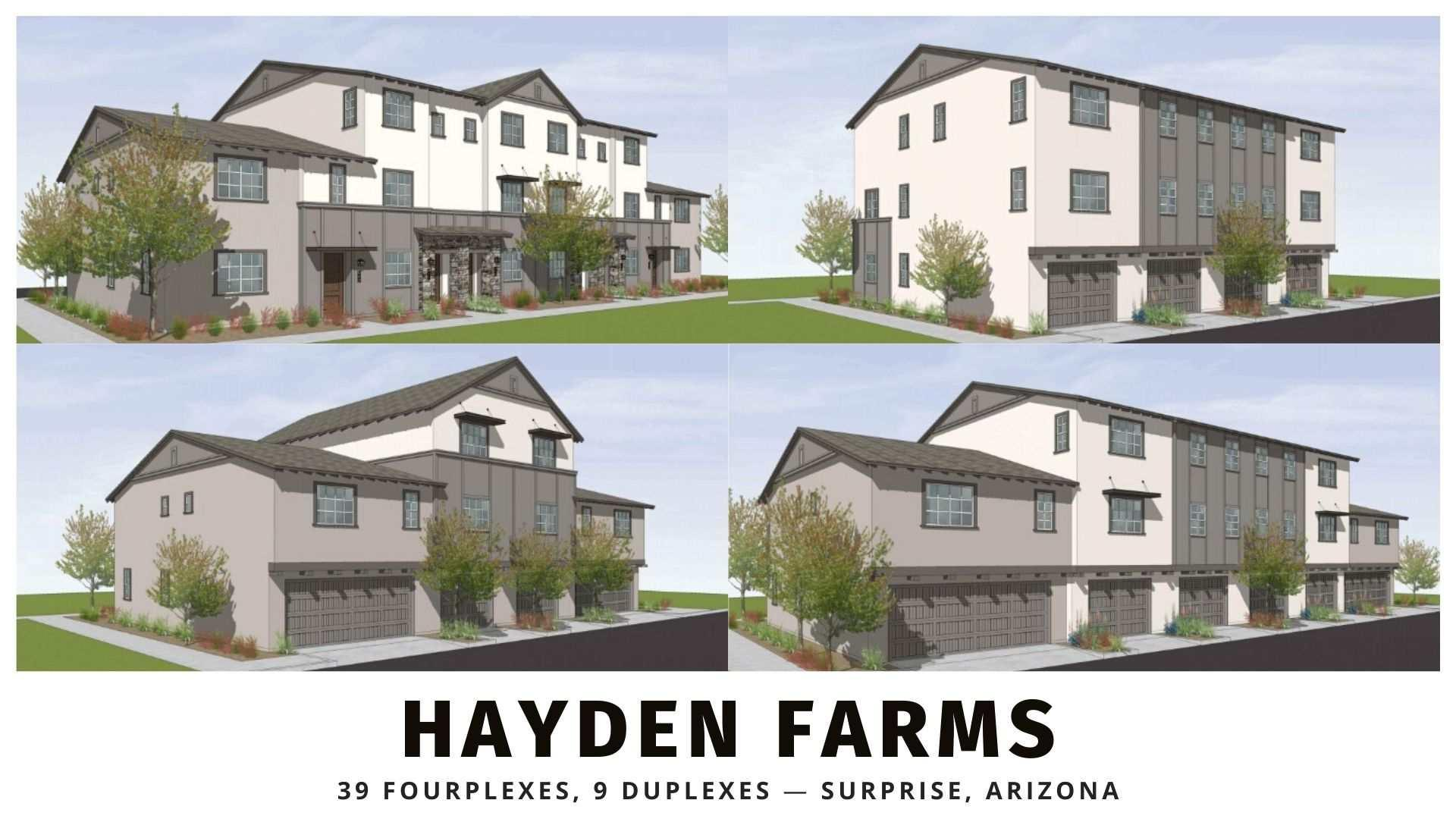 39 fourplexes and 9 duplexes for sale