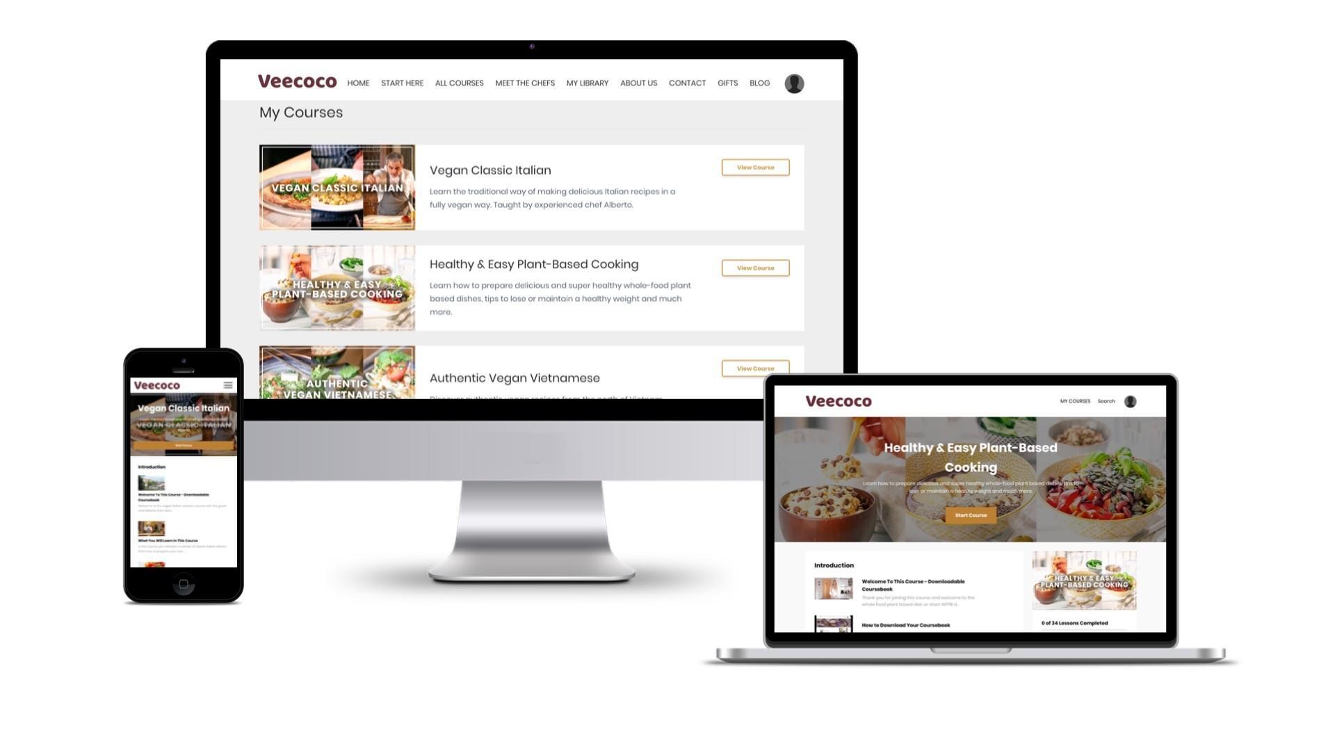 take online vegan cooking classes on computer, laptop, or phone