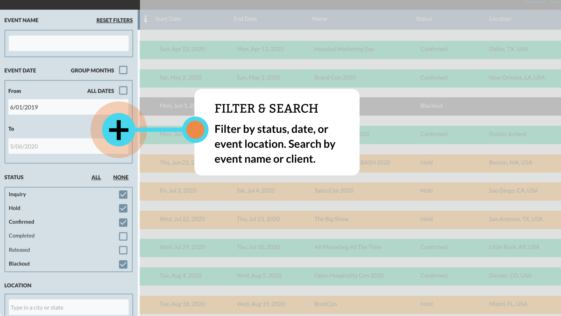 Gigs Filter & Search