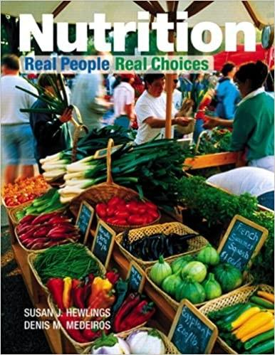 Cover of nutrition college textbook with contributing author, Stacy Fisher