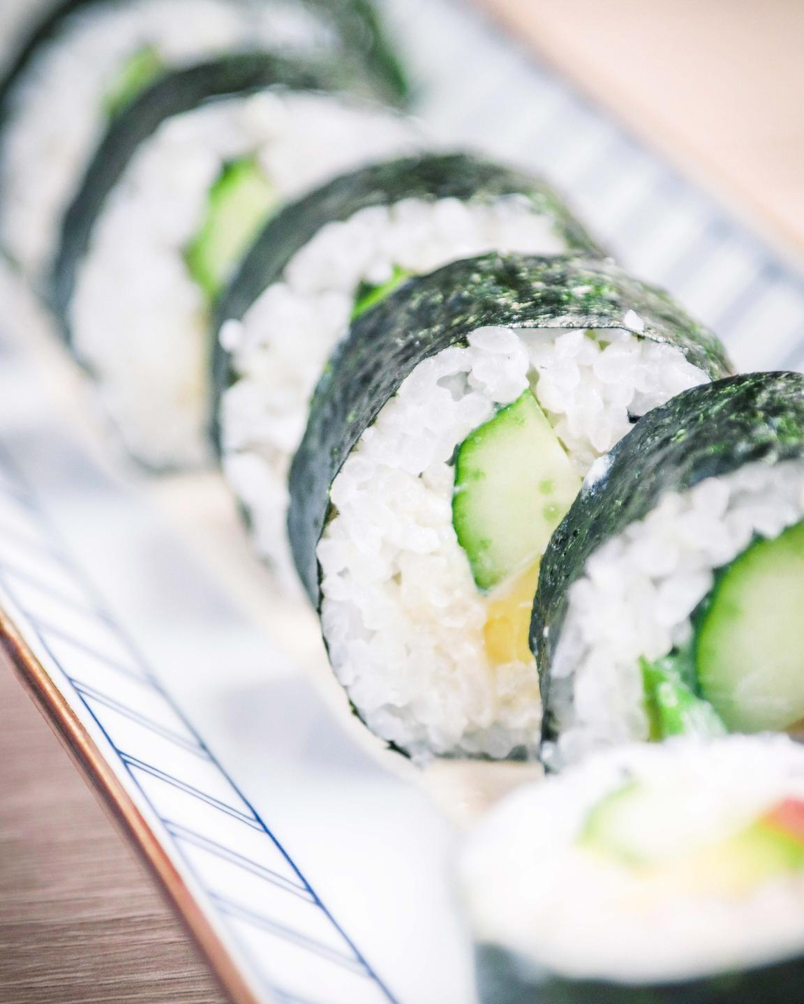 vegan sushi made on a free veecoco online vegan cooking courses