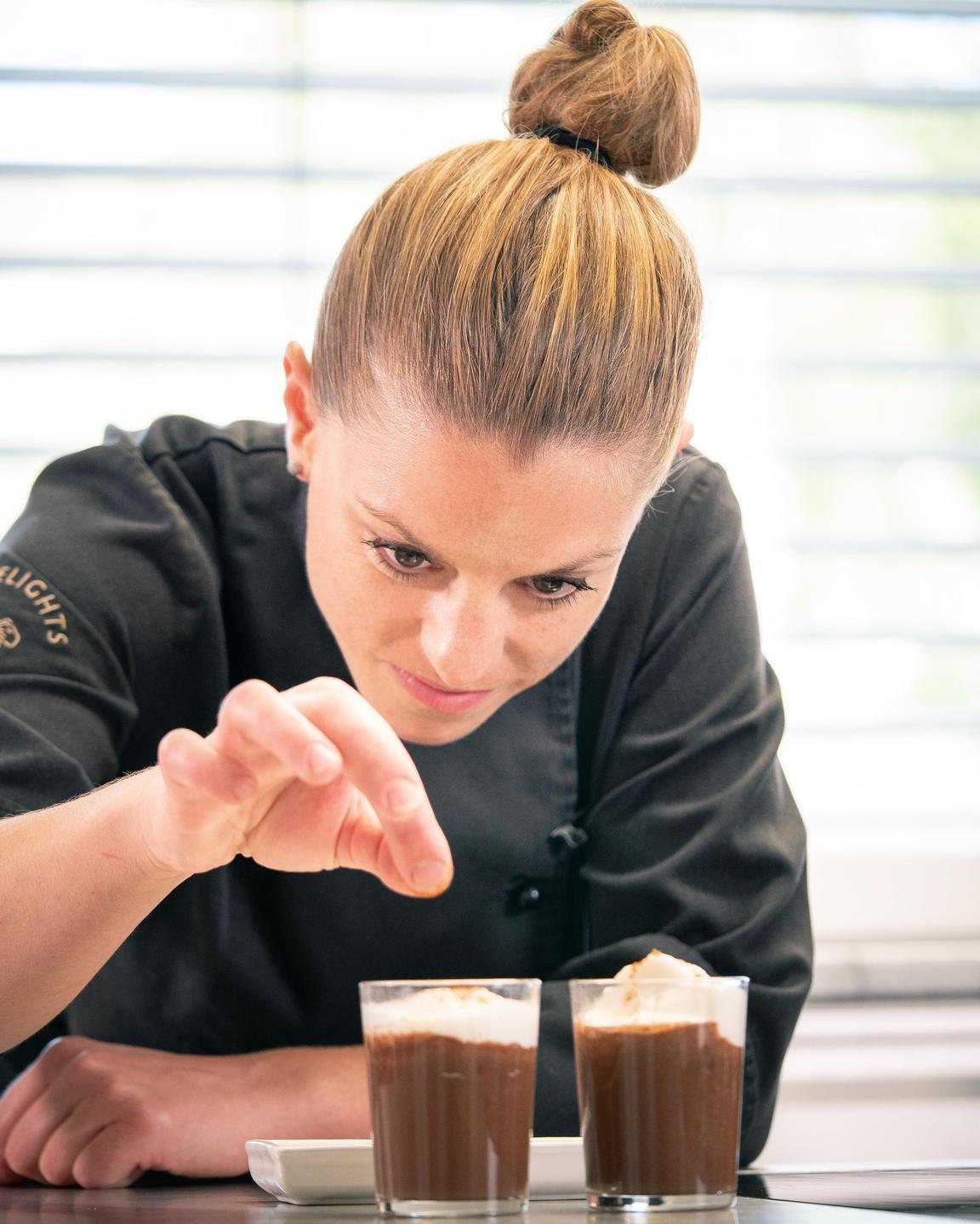 vegan chocolate dessert made on a free veecoco online vegan cooking courses