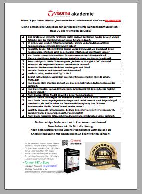 Checkliste Serviceorientierte Kundenkommunikation