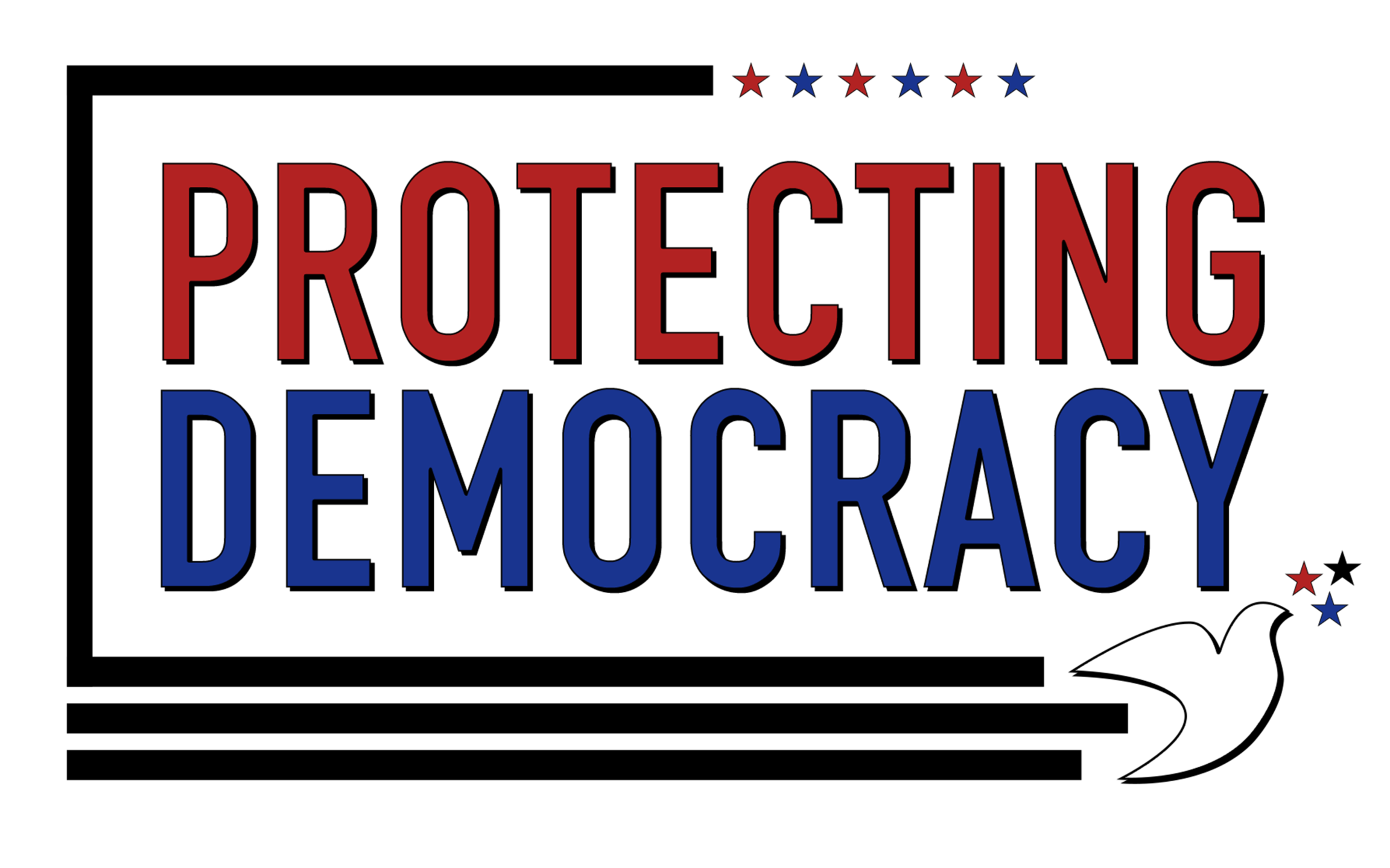 Protecting Democracy with dove and stars