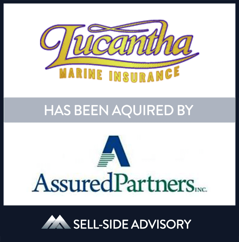 AssuredPartners, Inc. acquired substantially all of the assets of Lucantha Marine Insurance, an independent retail and wholesale agency based in New Gloucester, ME. Formerly the Maine Division of International Special Risks, Inc., Lucantha Marine Insurance specializes in placing marine and yacht insurance lines with the best marine insurance companies nationally. MidCap served as advisor to Lucantha. | Lucantha (ISR Yacht),	AssuredPartners, 8 Aug 2014, Maine, Insurance & Financial Services