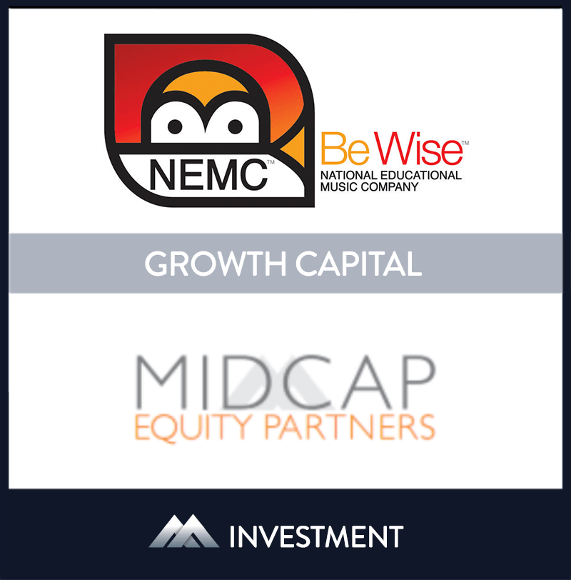 National Educational Music Co., Ltd. or NEMC is a leading provider of band and orchestra musical instruments for use in educational programs. | NEMC, MidCap Equity Partners, 15 Aug 2011, New Jersey, Education