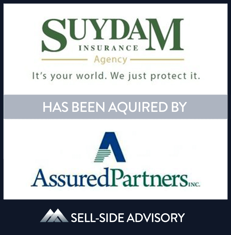 AssuredPartners, Inc. acquired substantially all of the assets of Suydam Insurance, an independent agency based in Somerset, NJ. Suydam Insurance has provided business and personal insurance to clients in the greater New Jersey area since its founding 1879. MidCap served as advisor to Suydam. | Suydam Insurance, AssuredPartners, 12 Jan 2016, New Jersey, Insurance & Financial Services