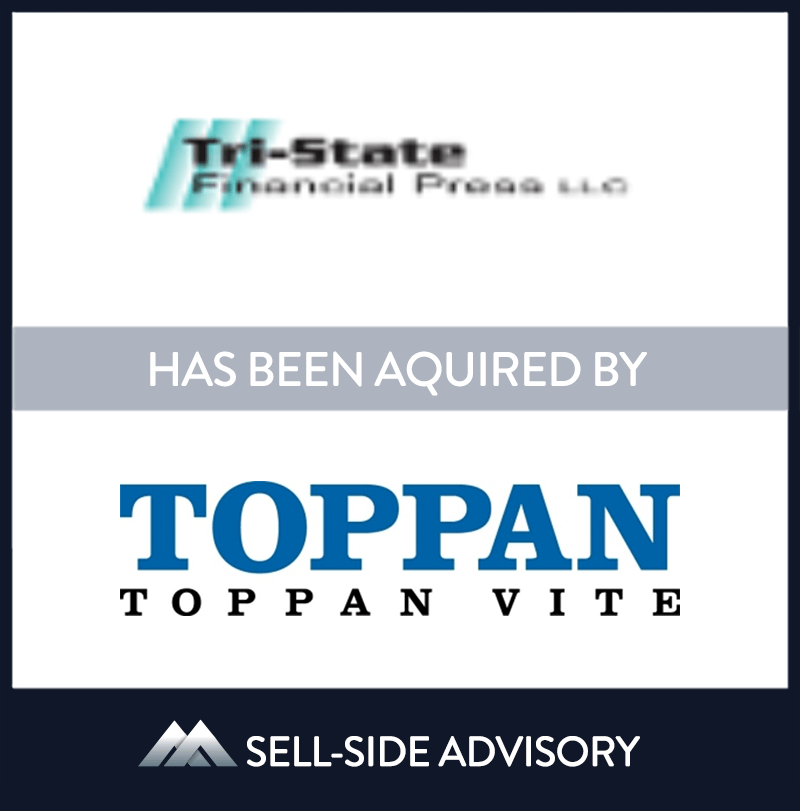Toppan Vite, a leading financial printer managing mission-critical content for capital markets transactions, financial reporting and regulatory compliance filings, and investment company and insurance communications, acquired Tri-State Financial Press LLC, a leading New York area financial printer. | Tri-State Financial Press, Toppan Vite, 17 Dec 2012, New York, Manufacturing & Business Services