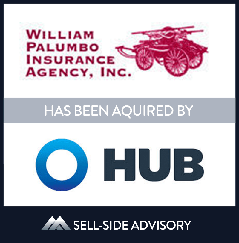Hub International Limited, a leading global insurance brokerage,  through its subsidiary Hub International New England, acquired the assets of William Palumbo Insurance Agency (Palumbo), a Massachusetts-based insurance brokerage firm. Founded in 1932, Palumbo is a full service brokerage offering property and casualty, personal lines, employee benefits, life insurance and other financial services throughout Massachusetts and Rhode Island. The company operated out of six offices in Eastern and Central Massachusetts. MidCap served as advisor to Palumbo. | William Palumbo Insurance Agency,Hub International, 1 Sep 2011, Massachusetts, Insurance & Financial Services