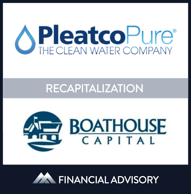Boathouse Capital, a Philadelphia-based investment fund, invested in Pleatco, a New York water filtration product manufacturer. Pleatco is a leading manufacturer of water filtration products for the pool and spa industry and is known for quality and innovation. Boathouse invested mezzanine debt to recapitalize Pleatco's balance sheet to fund future growth. | Pleatco, Boathouse Capital, 1 Sep 2015, New York,Manufacturing & Business Services