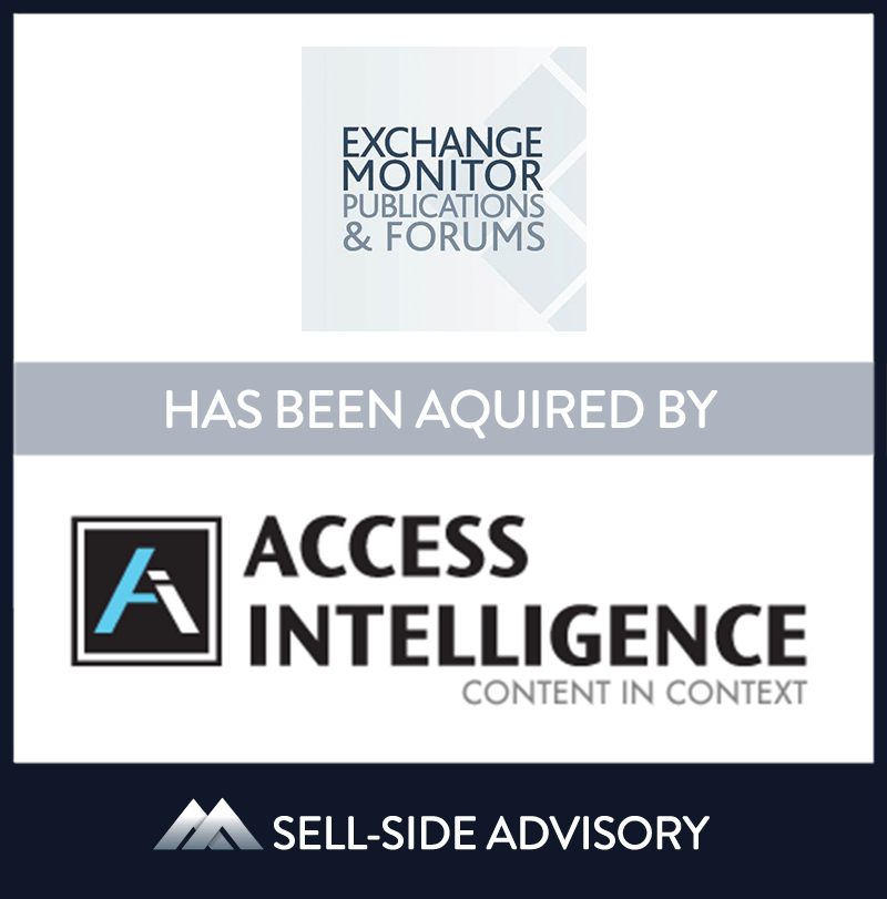| Exchange Monitor Publications, Access Intelligence LLC, 1 Mar 2015, Virginia,Manufacturing & Business Services