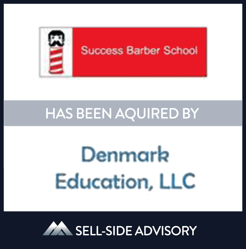Denmark Education Holdings, LLC acquired the assets of Success Schools, LLC, a vocational school specializing in barber classes. Success Schools is a post-secondary education Title IV eligible career school with a main campus located in Indiana and an additional location in Chicago, IL. MidCap served as advisor to Success Schools | Success Schools, Denmark Education, 15 Jan 2016, Indiana, Education