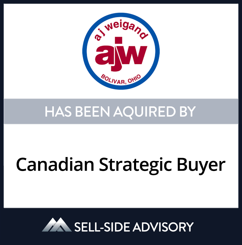 | A.J. Weigand, Canadian Strategic Buyer, 1 Jul 2006, Ohio, Manufacturing & Business Services