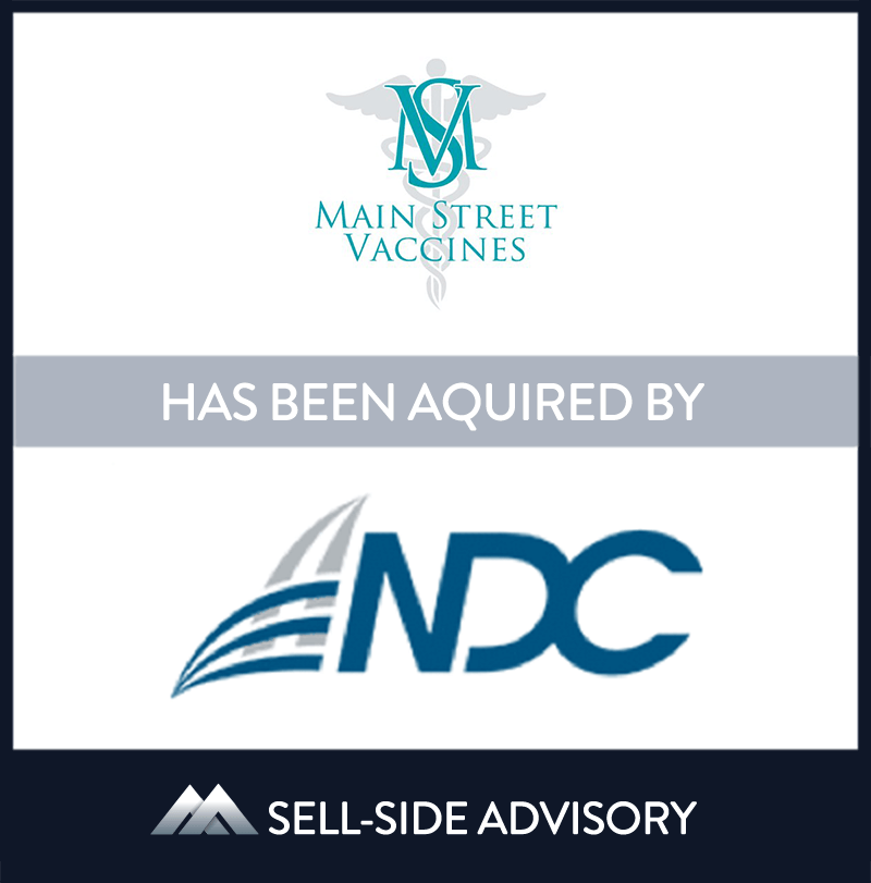 NDC, a national healthcare supply chain company has acquired substantially all of the assets of Main Street Vaccines, a physician buying group specializing in vaccines. For more than 15 years, Main Street has provided it's thousands of physician members access to discounts with leading vaccine manufacturers. MidCap served as advisor to Main Street Vaccines. | Main Street Vaccines, NDC, 01 Apr 2015, New Jersey, Healthcare Services