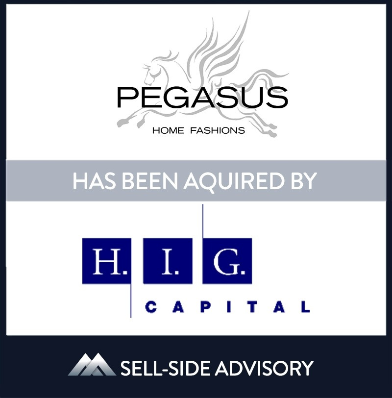 """Pegasus Home Fashions (""""Pegasus"""") was acquired by H.I.G. Capital (""""H.I.G."""") in August 2021. Pegasus is one of the country's largest and fastest growing manufacturers of pillows and wholesaler of ancillary bedding products. Pegasus has a broad portfolio of proprietary, licensed, and private label brands that are manufactured within several facilities throughout the United States. Partnering with H.I.G. will add to Pegasus' resources and accelerate capitalizing on the company's many growth opportunities. 