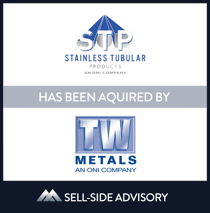 TW Metals, Inc., a member of the O'Neal Steel family of companies, acquired Stainless Tubular Products (STP), a leading metal service center in the U.S.. STP was founded in 1979 and specializes in providing welded stainless steel tubing, pipe, fittings and bar. MidCap served as advisor to STP. | Stainless Tubular Products, TW Metals, 7 Dec 2008, New Jersey, Manufacturing & Business Services