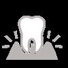 Ein Zahn in seiner Umgebung