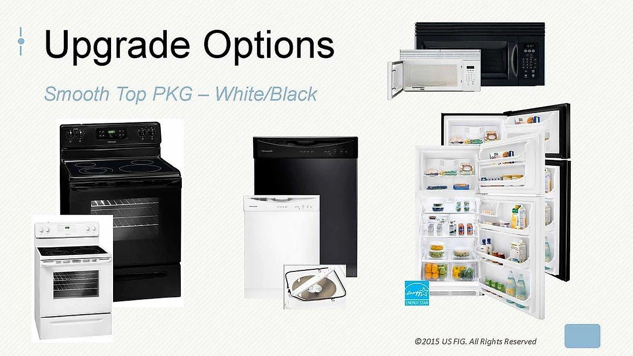 Upgrade 1, Smooth Top Package, white and black