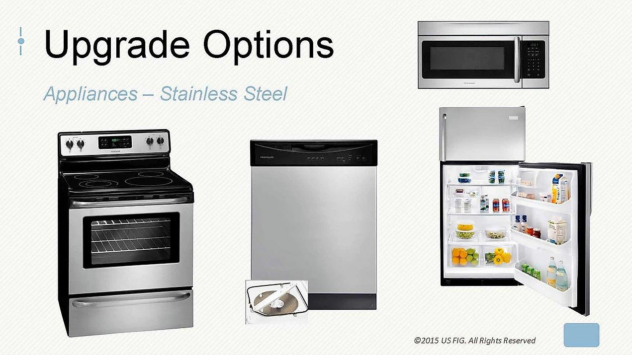 Upgrading a FIG fourplex to Stainless Steel appliances