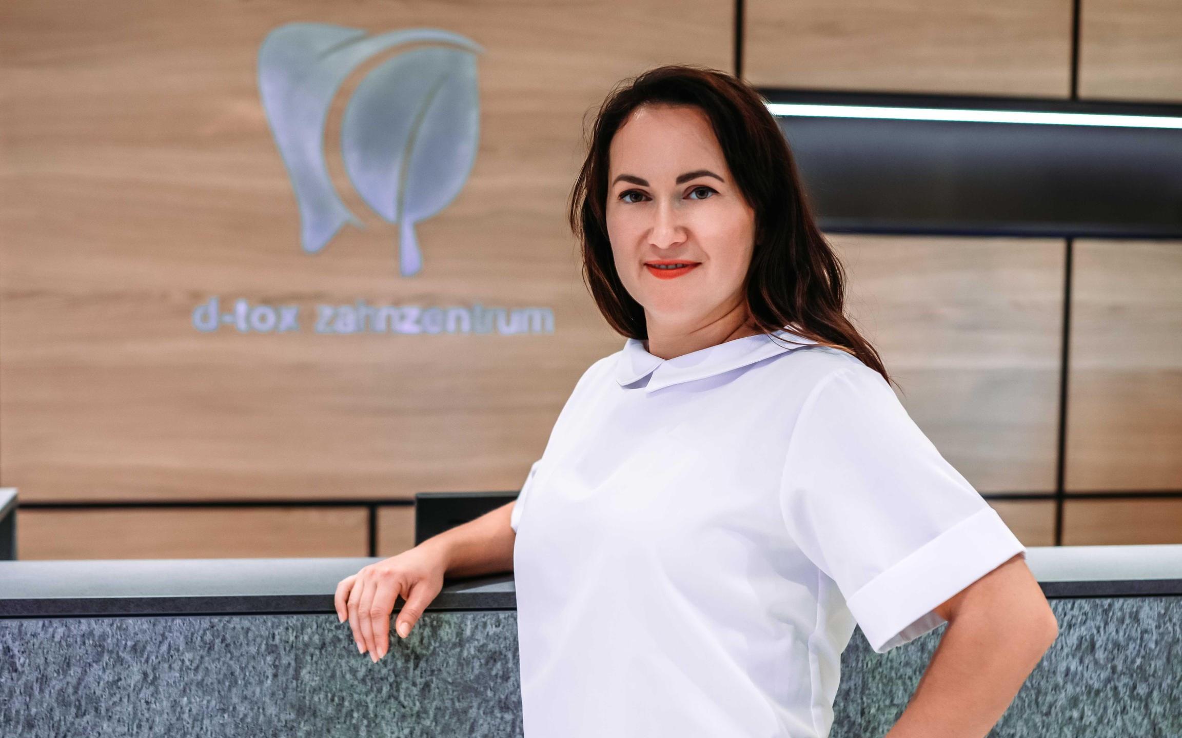Alena Prein-Mironova - Buchhhalterin im D-tox Zahnzentrum für Biologische Zahnmedizin