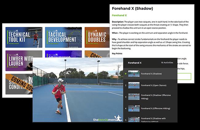 Lesson Planning - The Tennis Menu