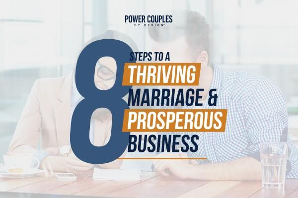 married couple in business learning