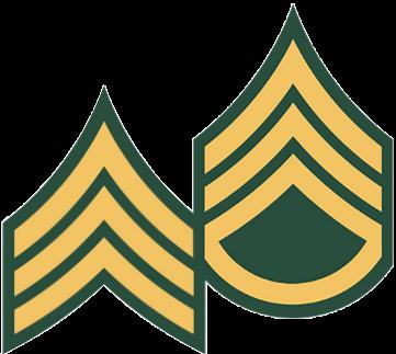 Army E-5 and E-6 Rank Insignia