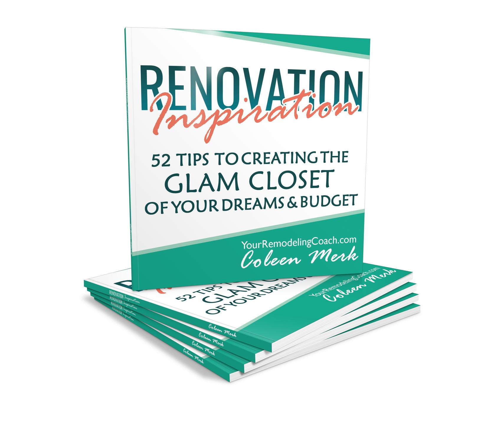 NanColeen Merk Renovation Inspiration Book1 Glam Closet Published by Soar 2 Success Publishing