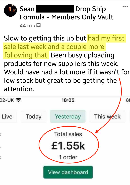 High ticket UK drop shipping screenshot 3