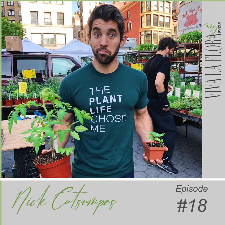 Farmer Nick Netflix the Big Flower Fight contestant holding plants