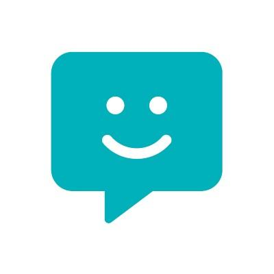 smiley face chat bubble