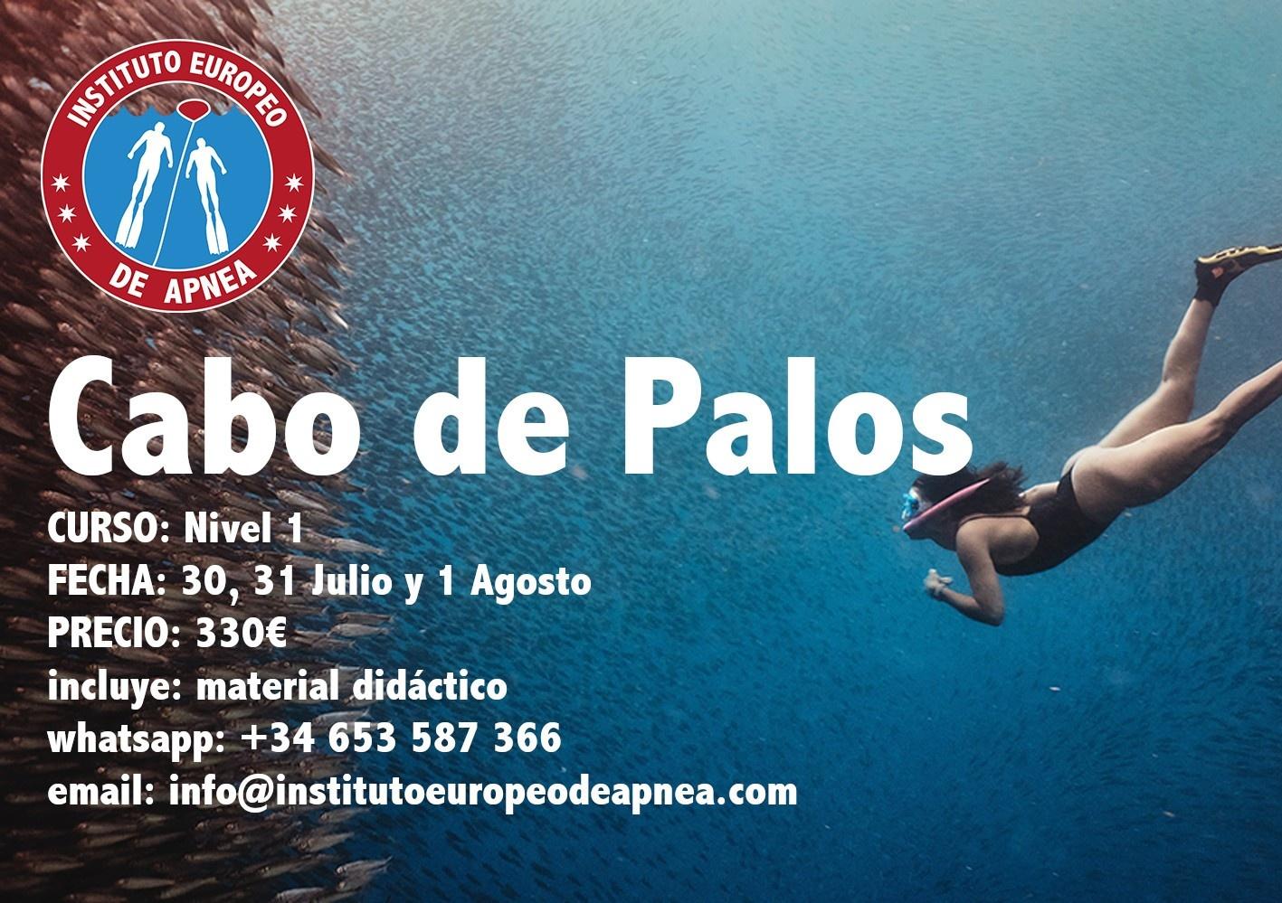Curso de apnea en Murcia - Cabo de Palos