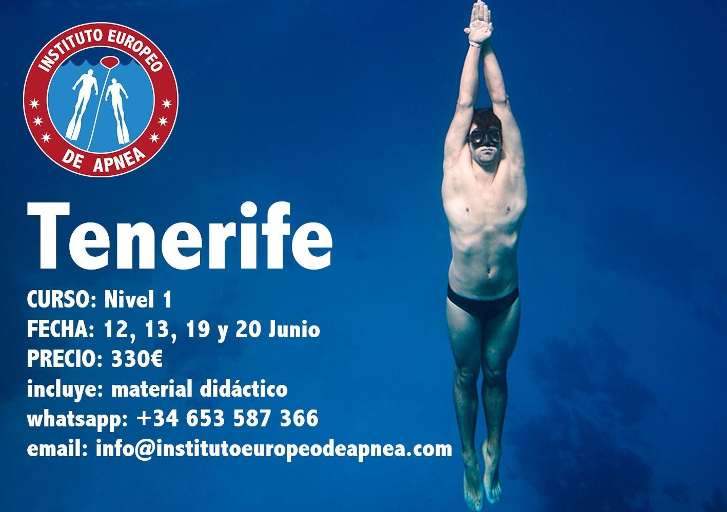 Curso de apnea nivel 1 en Tenerife