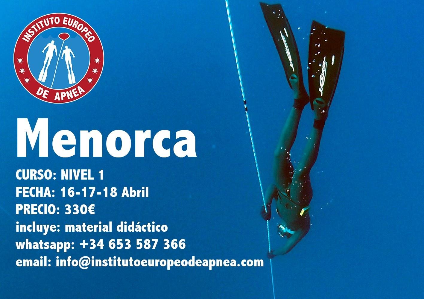 Curso de apnea en Menorca