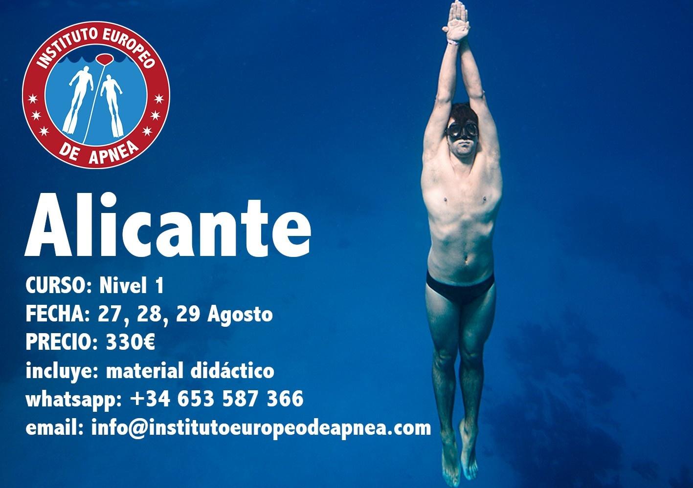 Curso de apnea en Alicante