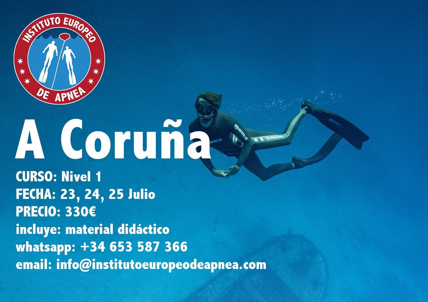 Curso de apnea en A Coruña