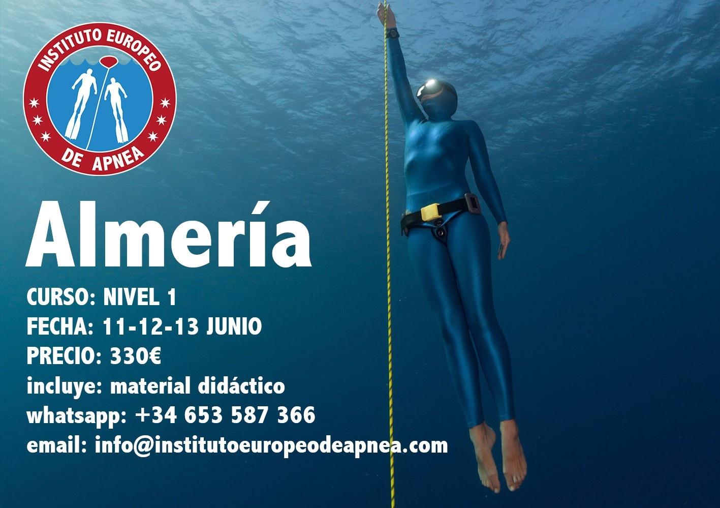 Curso de apnea en Almería - Cabo de Gata