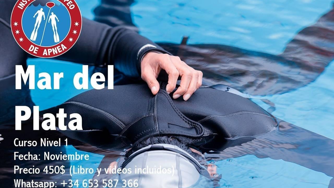 Curso de apnea en Mar del Plata