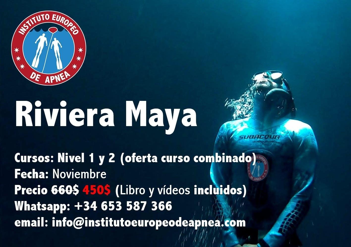 Curso de apnea en Cenotes de Riviera Maya - Mexico