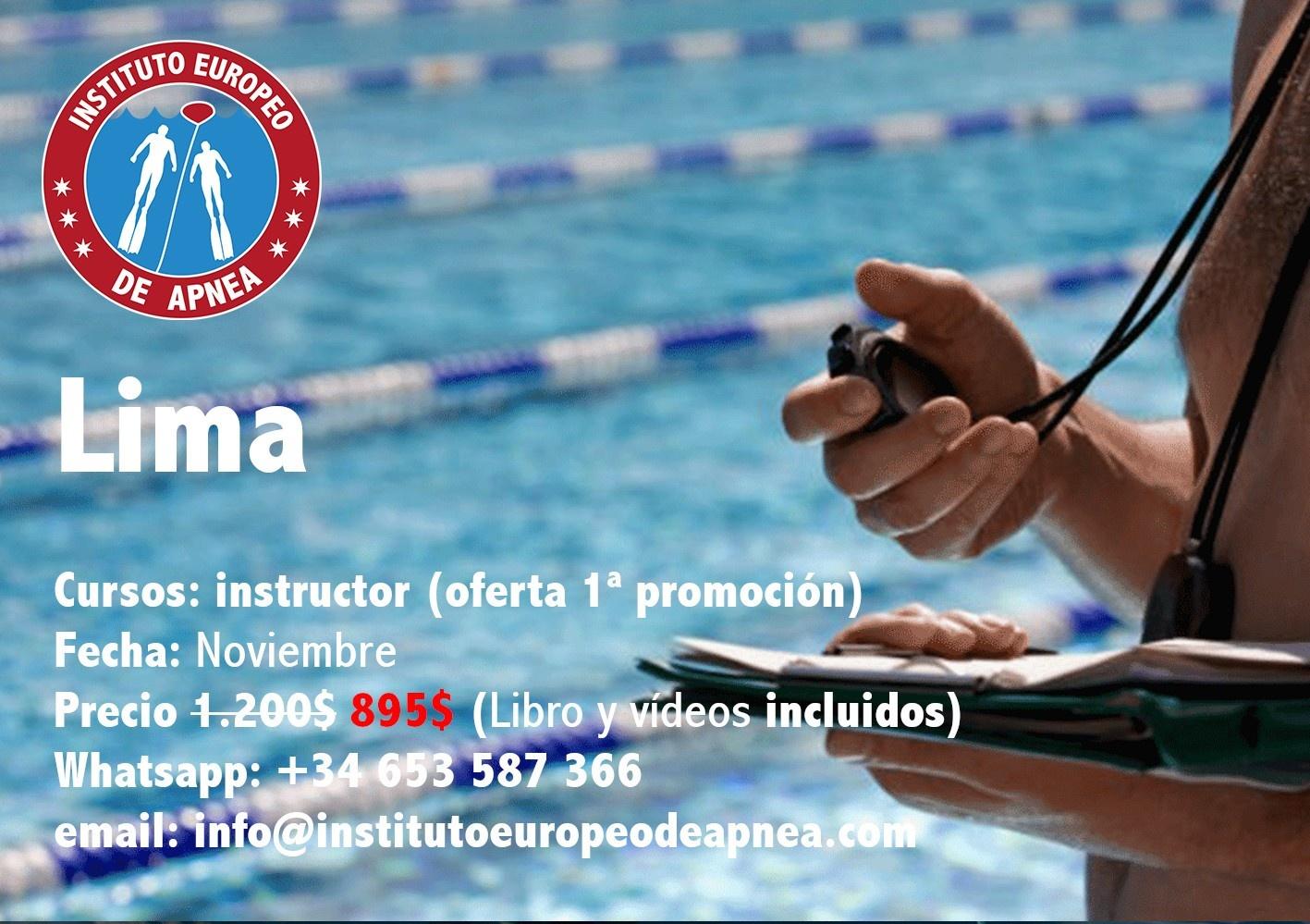 Curso de instructor de apnea Lima - Perú