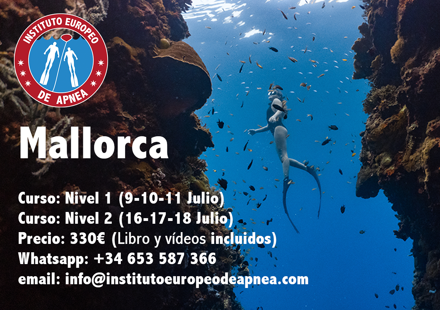 Curso de apnea en Palma de Mallorca