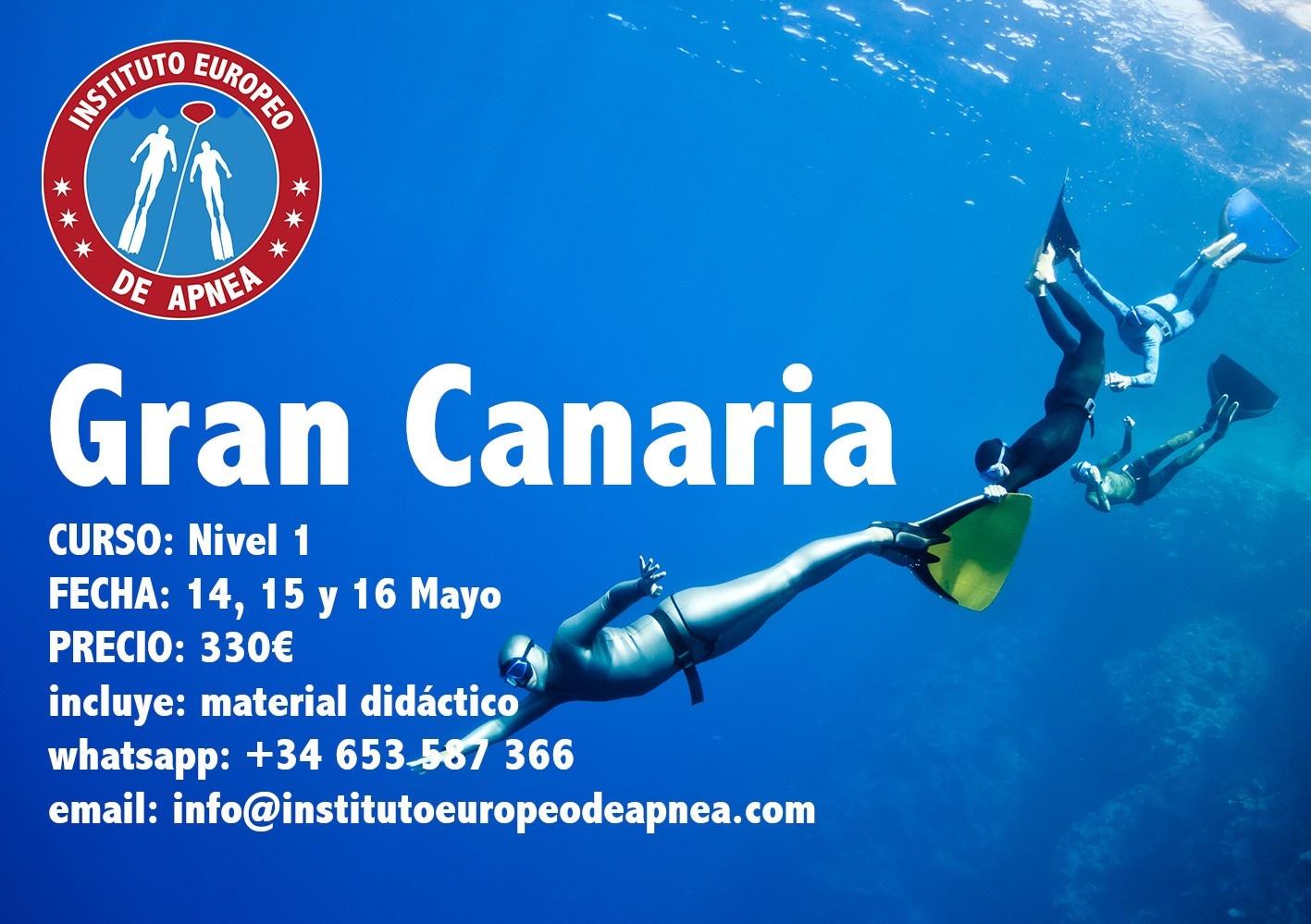 Curso de apnea en Gran Canaria