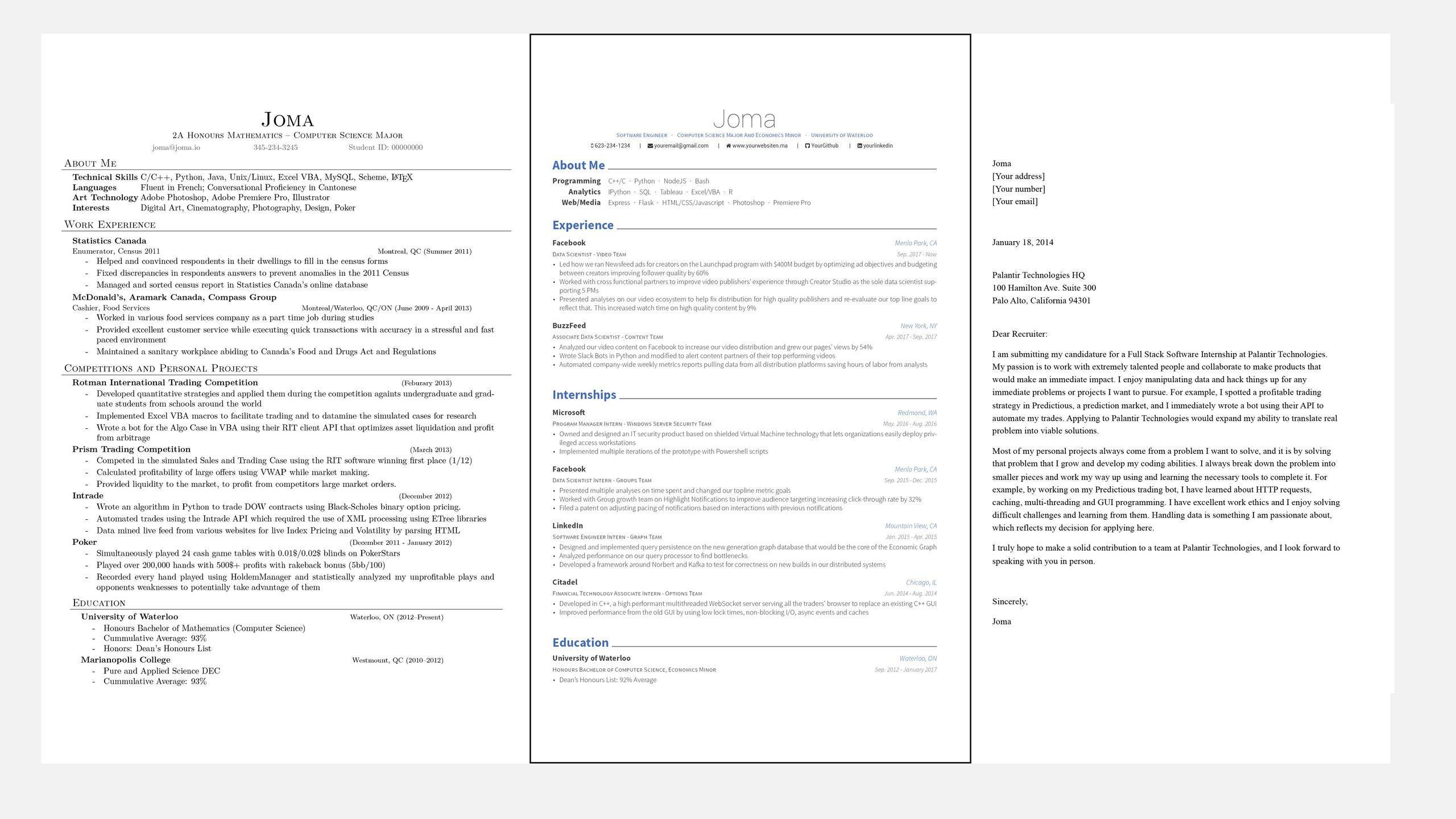 Joma S Resume And Cover Letter Template
