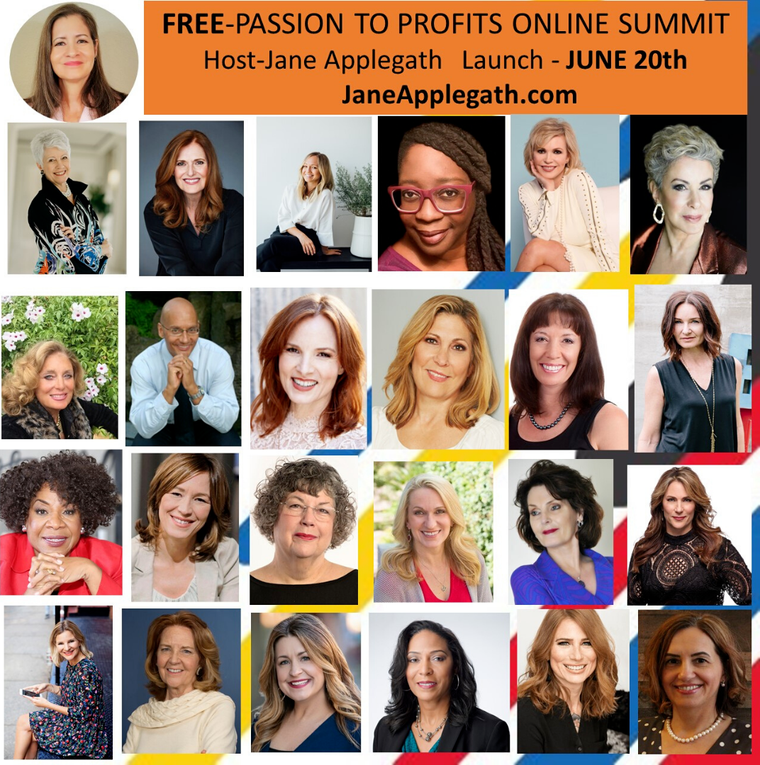passion to profits virtual online summit women jane applegath